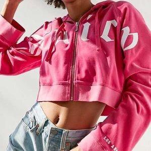 Hot pink juicy couture cropped pink hoodie